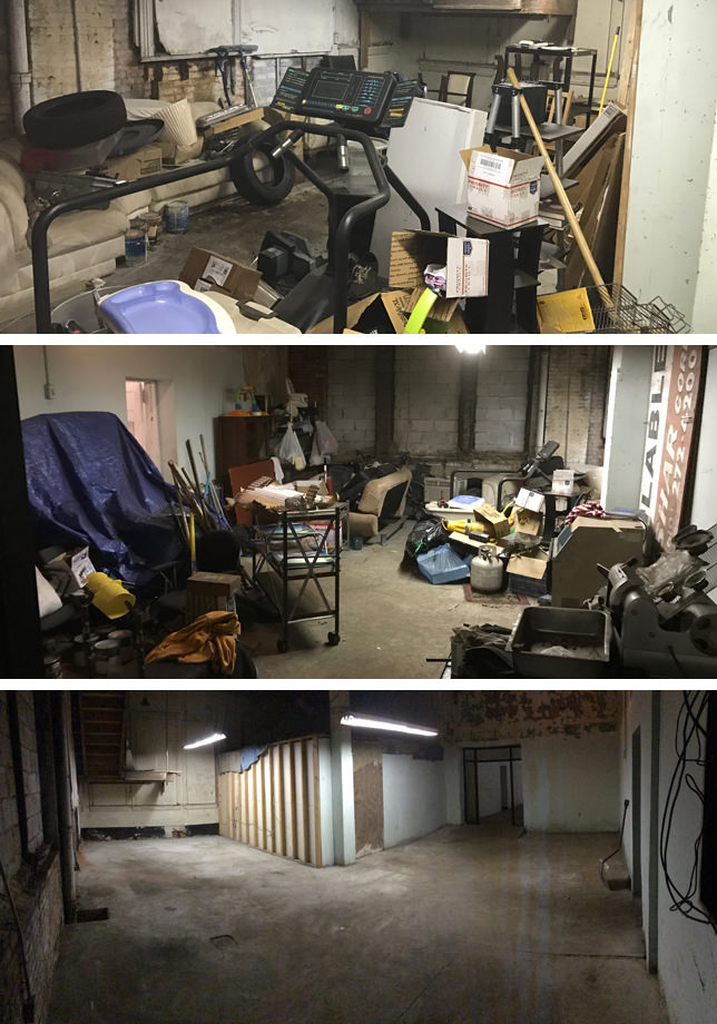 Warehouse Storage Before & After - Cleanout Captain